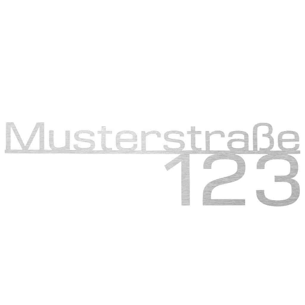 Hausnummer-Straße-Edelstahl Stahldesign Klostermann