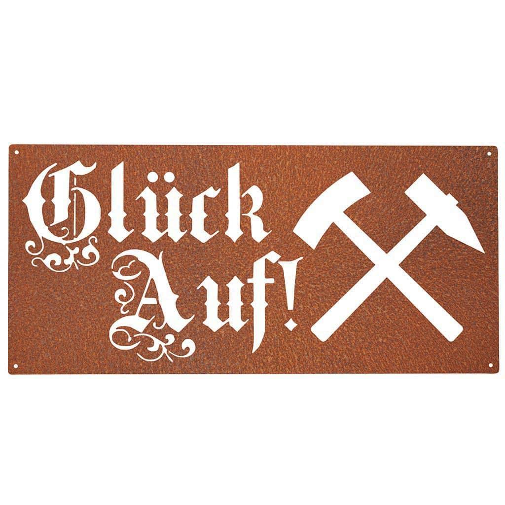 Wandbild-Glück-Auf-Corten Stahldesign Klostermann